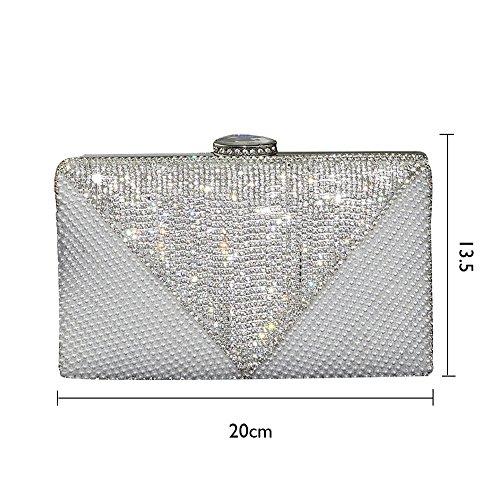 Rhinestone for Lady Bag Womens Clutch Diamante Evening Bag UNYU Pearl Party Beaded xqvPYnnF