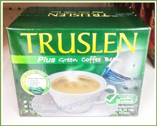 5x Truslen Plus Green Coffee Bean Instant Slimming Weight Management Drink 10 Cups Best Product From Thailand