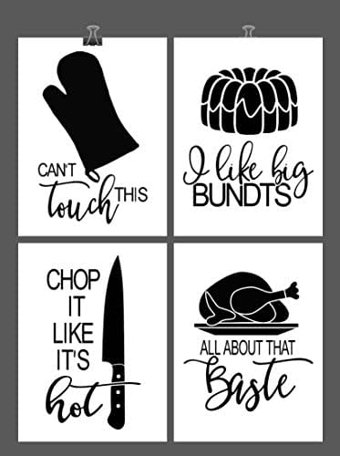 Art Print Set of 4 - Music Lyric Pun - Multiple Sizes: Handmade