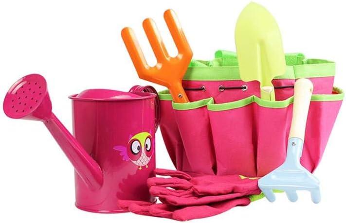bouncevi Juguetes de jardín para niños, Caja Fuerte Multifuncional para niños 6 PCS/Set Juguetes de jardín para niños, Bolsa de Lona/Pala/rastrillo/Tenedor/regadera/Guantes para niños: Amazon.es: Hogar