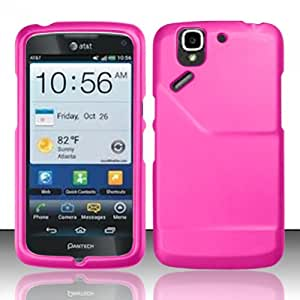 3-in-1 Bundle For Pantech Flex - Hard Case Snap-on Cover (Hot Pink)+ICE-CLEAR(TM) Screen Protector Shield(Ultra Clear)+Touch Screen Stylus