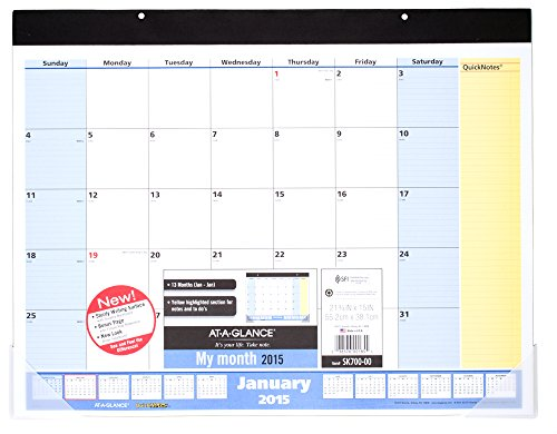 At A Glance Quicknotes Monthly Desk Pad Calendar 2015 21