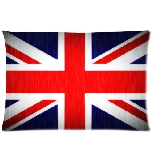 Custom The Union Jack Flag Pillowcase Pillow Covers Cases Standard Size 20x30 Inch (Twin Sides) (Union Jack Bedding Twin compare prices)