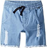 Munster Kids Baby Boy's Ripped up Shorts (Toddler/Little Kids/Big Kids) Bleached Blue 14