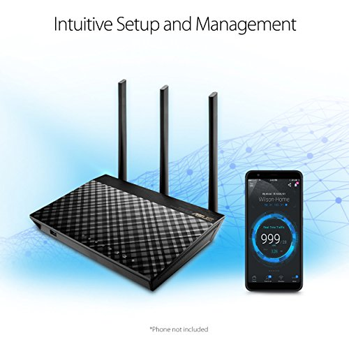 ASUS RT-AC66U B1 AC1750 Dual-Band WiFi Router, AiProtection