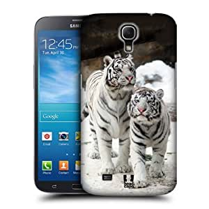 AIYAYA Samsung Case Designs Two White Tigers Famous Animals Protective Snap-on Hard Back Case Cover for Samsung Galaxy Mega 6.3 I9200 I9205