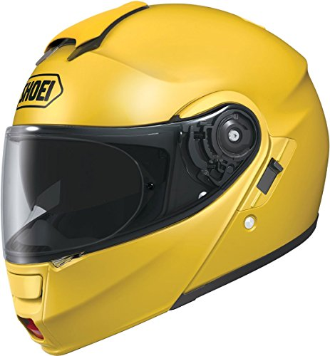 Shoei Metallic Neotec Road Race Motorcycle Helmet - Brilliant Yellow/Small