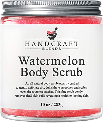 100% Natural Indulging Watermelon Body Scrub – An Invigorating Blend That Gently Exfoliates Even the Toughest Skin & Reveals A Smoother, Softer, Healthier Looking Complexion - 10 OZ