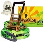 Macaco Slackline - 16m Long, 50mm Wid...