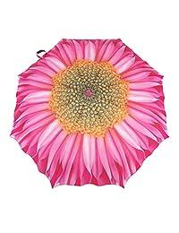 Austin House Pink Dahlia Telescopic Umbrella, Pink, International Carry-On