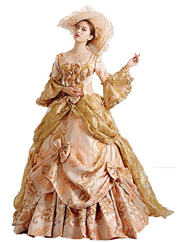 Zukzi Women's Gorgeous Victorian Train Ball Gown Wedding Dress, US 18, #H069 by Zukzi