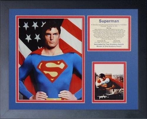 Legenden Sterben Nie Superman gerahmtes Foto Collage, 11 von 35,6 cm von Legends Never Die
