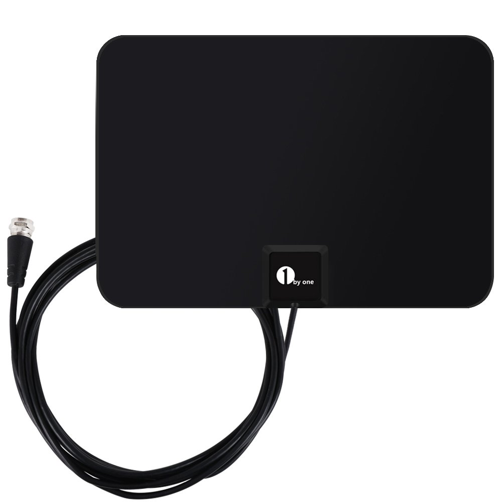 1byone HDTV Antenna - 35 Miles Range with 10 Feet High Performance Coaxial Cable