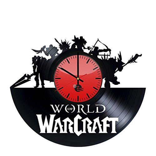Cheap World of Warcraft Handmade Vinyl Record Wall Clock Fun gift Vintage Unique Ho…