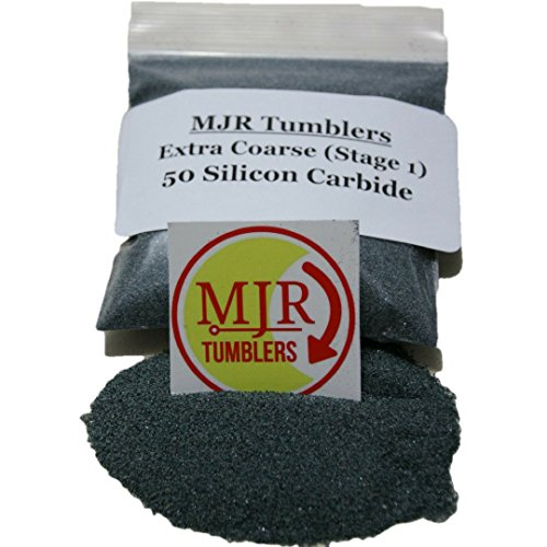 MJR Tumblers 2 lb Silicon Carbide 50 Rock Grit by MJR Tumblers