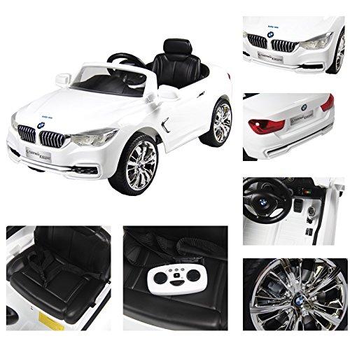 Elektroauto BMW 4 Coupe 120x69x52cm Weiß
