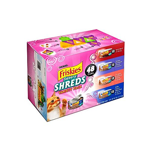 Purina Friskies Savory Shreds Variety Pack for Cats