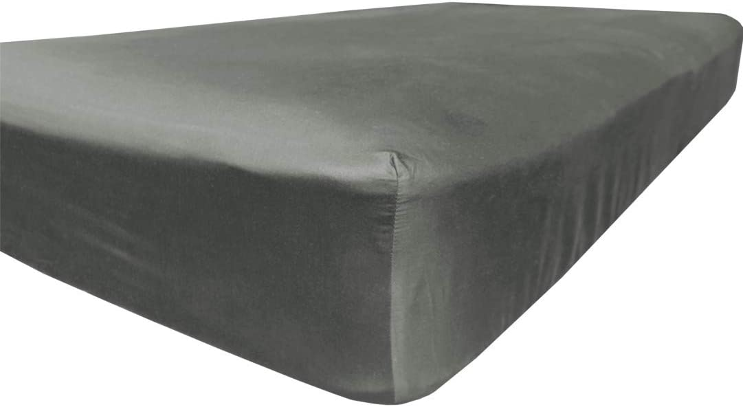 Double 300 TC 100/% Egyptian cotton grey fitted sheet