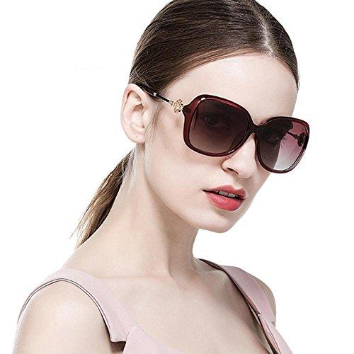Aoligei Ceinture de type fleur foret pilote de lunettes de soleil polarisant lunettes de soleil lunettes de grande dame jT8pYwWcXo