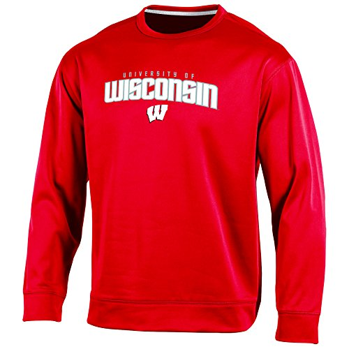 Champion (CHAFK) NCAA Wisconsin Badgers Adult Men Long sleeve Crew Neck Fle, X-Large, ()