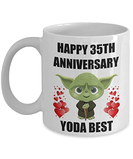 Amazon.com 35 Year 35th Wedding Anniversary Gifts For Yoda Best Sexy Husband Hubby Wife Gay Lesbian Partner Couples Men Women Him Her Star Wars Coffee Mug ...  sc 1 st  Amazon.com & Amazon.com: 35 Year 35th Wedding Anniversary Gifts For Yoda Best ...