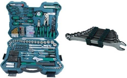 Mannesmann - M29088 - 303 piezas Juego de llaves de vaso y herramientas + M19652 Juego de 12 llaves combinadas 6 a 22 CV: Amazon.es: Bricolaje y herramientas