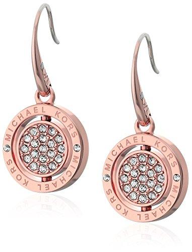 Michael Kors Flip Glitz Rose Gold Tone Drop Earrings ()