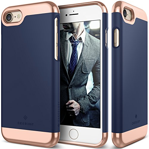 Caseology Savoy Series iPhone 8/7 Cover Case Stylish Design Glide Protective Apple iPhone 7 (2016) / iPhone 8 (2017) - Navy Blue from Caseology