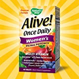 Natures Way Alive! Once Daily Womens Multivitamin, Ultra Potency, Food-Based Blends (240mg per serving), 60 Tablets