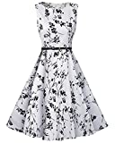 Tempt Me Juniors Vintage Sleeveless Homecoming Prom Cocktail Swing Dress White Medium