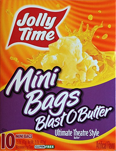Jolly Time Blast O Butter® 10 Mini Bags (2 PACK) (Mini Microwave Popcorn)