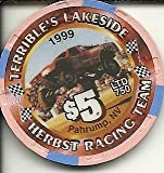 $5 terrible's lakeside herbst racing team 1999 pahrump nevada casino chip vintage offers