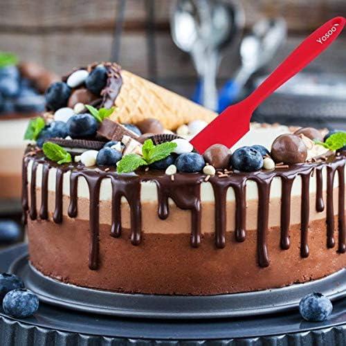 Silicone Scraper Translucent High Temperature Cake Spatula Cake Tool tA