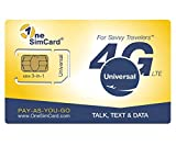 OneSimCard Universal 3-in-one SIM Card for use in Over 200 Countries with $5