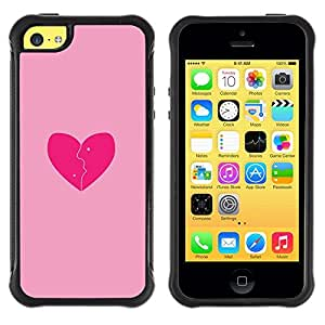 "Hypernova Defender Series TPU protection Cas Case Coque pour Apple iPhone 5C [Rosa del amor del corazón quebrado""]"