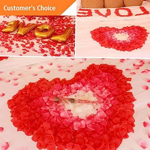 Hebel 100pcs Fake Flower Rose Petals Scatter for Wedding Ceremony Party Valentines Day | Model ARTFCL - 1173 - Verde Color Mount