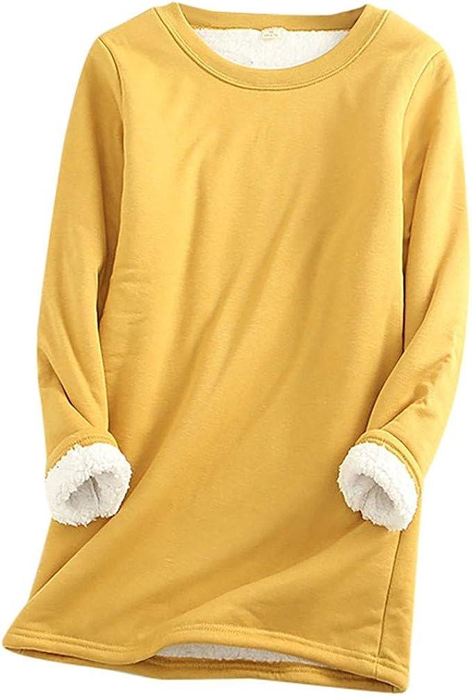Vectry Suéter De Mujer Sudadera con Capucha Mujer Otoño Invierno Tallas Grandes Camisa De Terciopelo Grueso Suelto Grueso Top Mujer Camiseta Casual: Amazon.es: Ropa y accesorios