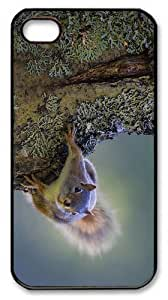 DIY case squirrel on tree PC Black Case for iphone 4/4S