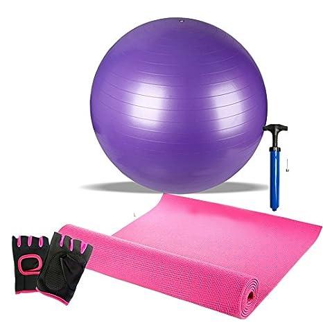Las mujeres bola de ejercicio, 65 \ 75 cm PVC gimnasio pelota ...