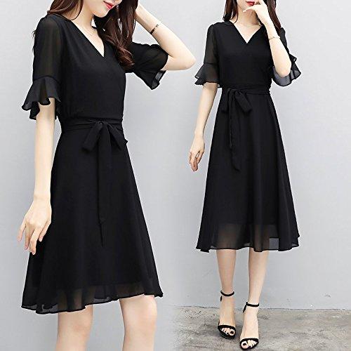 Une 2 Long Robe et Robes Mousseline Black Petite Noire XL Robe dans MiGMV en Robe Une Une ZwaTqzv
