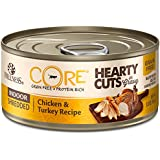 Wellness Core® Hearty Cuts Natural Canned Grain Free Wet Indoor Cat Food, Chicken & Turkey, 5.5-Ounce Can (Pack of 24)