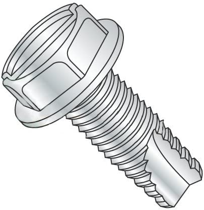 Hex Washer Head Type 25 Pack of 10 3//4 Length 5//16-12 Thread Size Zinc Plated Finish Steel Thread Cutting Screw
