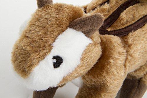 GoDog Wildlife Chipmunk Large Toy with Chew Guard