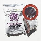 Pooki's Mahi 100% Kona Coffee, Peaberry, Single Serve for Keurig K-Cup Brewers, Medium Roast, 24 Count
