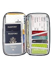 CoWalkers Organizador de documentos de viaje, billetera de viaje, titular de pasaportes (Negro)