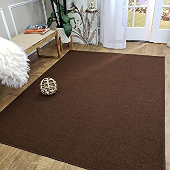 Amazon.com: Area Rug 3x5 Solid Brown Kitchen Rugs and mats ...