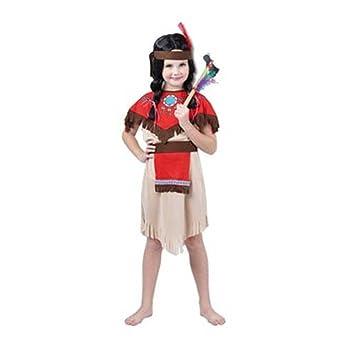 Disfraz niña India - talla 7 - 10 años: Amazon.es: Juguetes y juegos