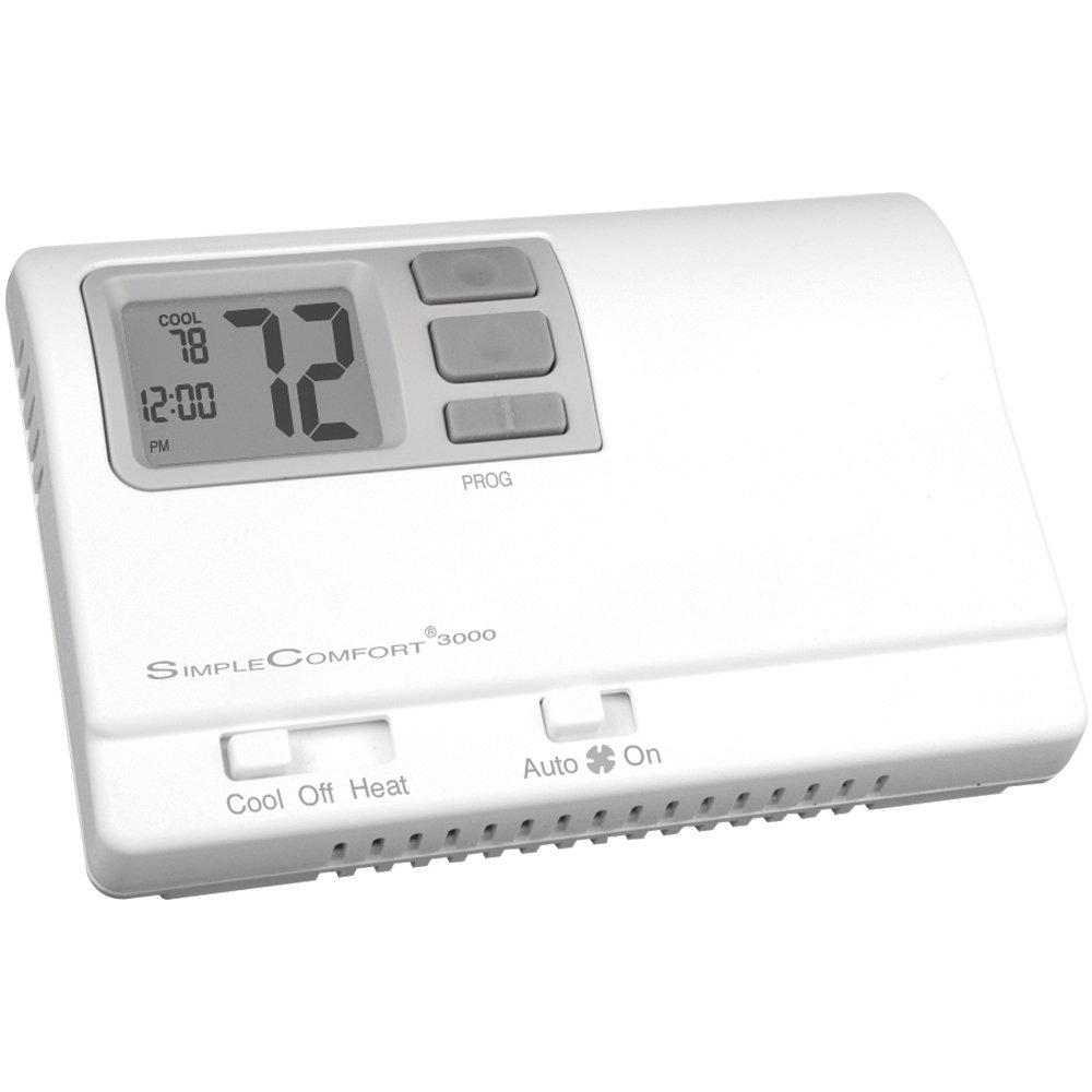 ICM Controls SC3000L Simple Comfort 7/5-2/5-1-1-Day Programmable Thermostat with Backlit Display for Single-Stage H/C or Single-Stage hp, Manual Changeover,Multicolor