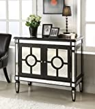 """Chans Furniture 40"""" Spectacular Mirrored Reflection Ananti Cabinet - Model HFZ253"""