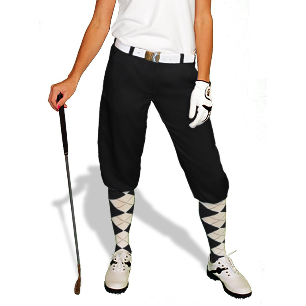 1920s Style Women's Pants, Trousers, Knickers, Tuxedo Black Golf Knickers: Womens Par 3 - Microfiber $69.95 AT vintagedancer.com